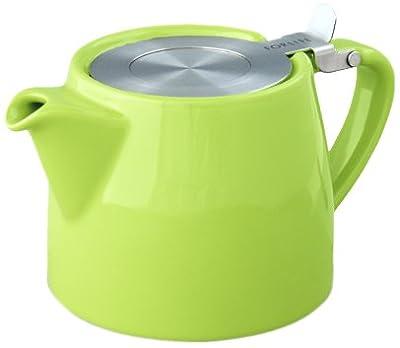 For Life Théière Stump Vert citron 530ml Boule à thé en acier inoxydable
