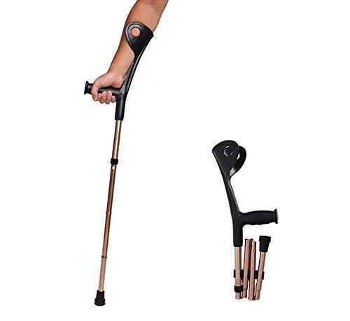 YZ-YUAN Faltbare Unterarmkrücken Aluminium-Unterarmkrücken für Erwachsene und Jugendliche, Bequeme Griffe 10 Feilen Verstellbare, leichte, ergonomische Griffe -