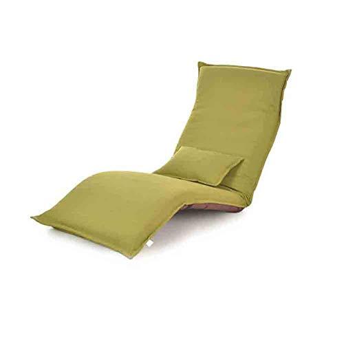 Sunny Lounge Schlafsofa Klapp Verstellbare Boden Lounger Sleeper Futon-Matratze Sitzstuhl W/Kissen (Farbe : Fruit Green) - Metall-futon-matratze