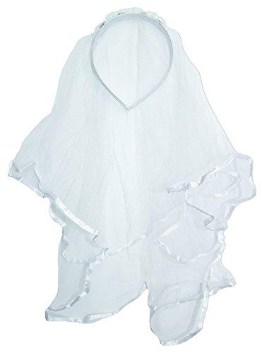Haarreif mit Brautschleier für Mädchen zum Kostüm oder für Damen zum Junggesellinnenabschied