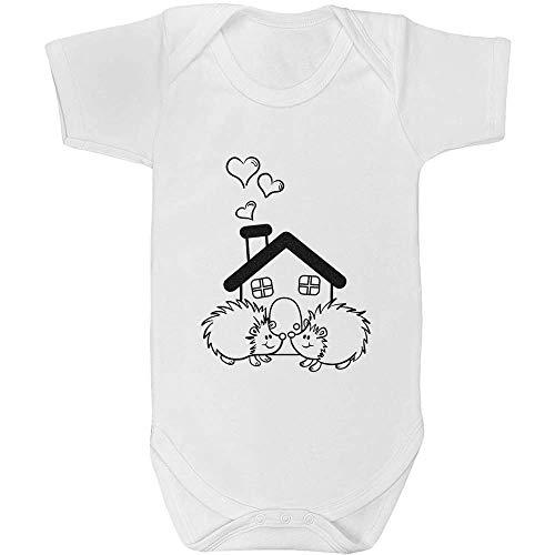 Azeeda 18-24 Monate \'Igel-Haus\' Baby Body Unisex (GR00033519)