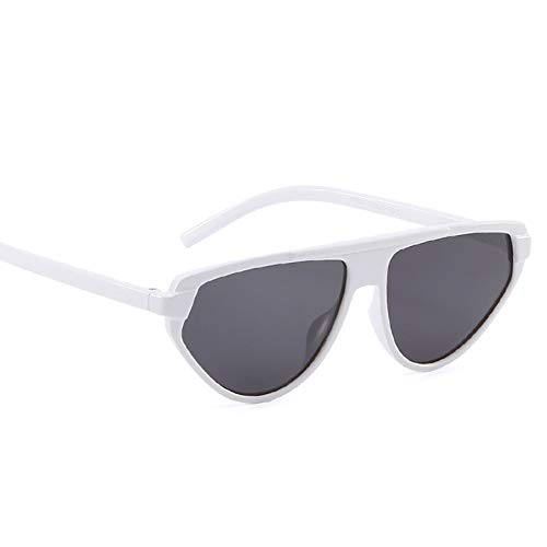 KnSam Polarisierte UV400 Schutz Ultraleicht Rahmen Big Cat Eye Sonnenbrille Damen Weiß Fahrerbrille