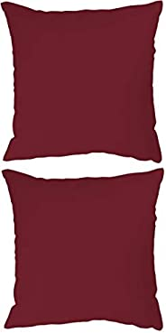 Stylie Soft Plain Colored Cushion, 45x45 cm, Red, 2 Piece