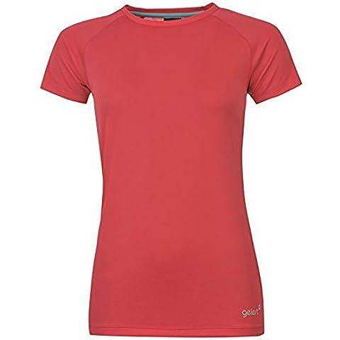 Gelert para mujer con transferencia de humedad T-Shirt camiseta para hombre traje de neopreno para mujer manga corta en la parte superior y cuello