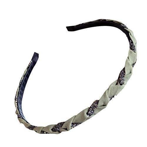 CANDLLY Stirnband Damen, Mode Damen Hand verzierter Haselnuss-Rattan-Bogen mit feinem Rand Stirnband Kopfschmuck Zubehör (Eule Kostüm Stirnband)