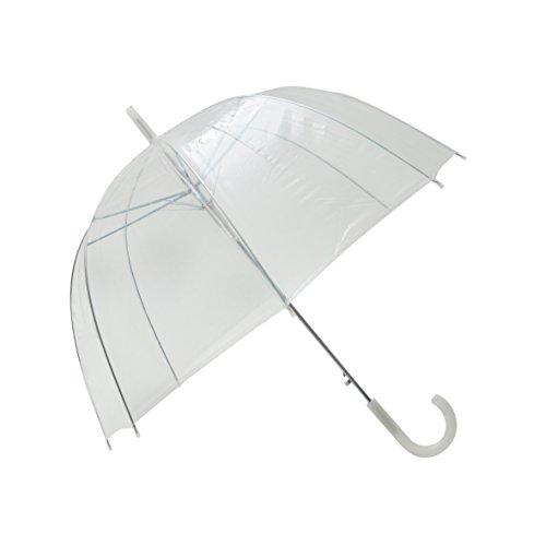 Transparenter/Durchsichtiger Regenschirm mit weißem Griff/Hochzeitsschirm