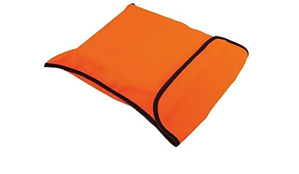 orange 4business Warnweste mit schwarzem Saum