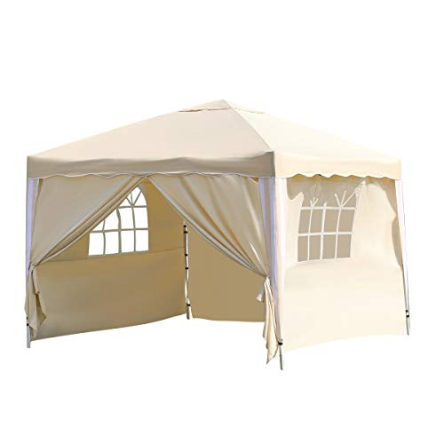 XH Gardenlife - Carpa Plegable (3 x 3 m), Color Beige, tamaño 4 Sides