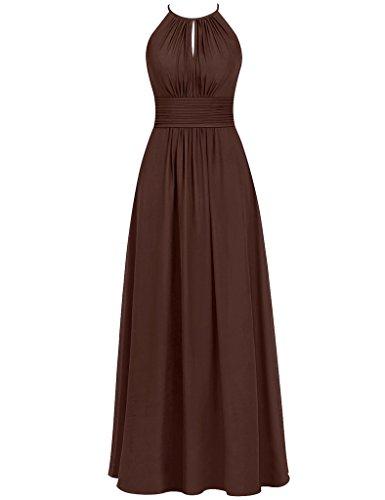 HUINI Damen Modern Kleid Schokoladenbraun