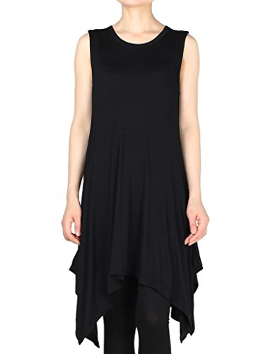 Vogstyle Women's Loose Swing Sleeveless Tunic Tank Tops Dress