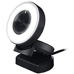 Razer Kiyo - Caméra de Diffusion de Bureau avec Éclairage (USB Streamer Camera avec Éclairage Circulaire à Plusieurs Rangées & Vidéo 720p 60 FPS HD)