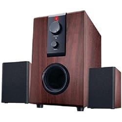 iBall Raaga 2.1 Q9 Full Wood Speakers (Rosewood)