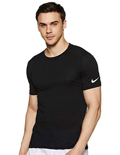 Nike Men's Solid Regular fit T-Shirt (724913-10 Black_S)