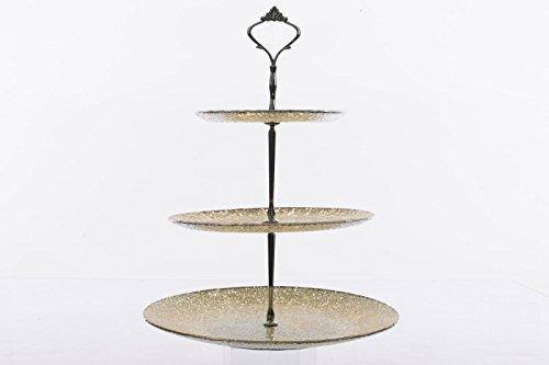 Alzata vetro tre acciaio Etagere in vetro piatto ciotola da portata dolci piatto oro antico altezza 37cm pezzi prezzo