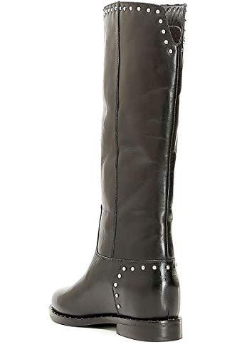CAF Noir GB132 Negro Zapatos Mujer Botas por Debajo de la Rodilla Tachuelas de Cuero 37