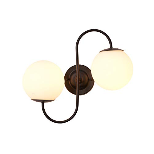 Preisvergleich Produktbild Schlafzimmer-Glaswandlampe American Minimalist Creative Wall Lampe Living Room Tv Hintergrund Wall Foyer Korridor Wandlampe Indoor Wandlampe (EIN Abschnitt)
