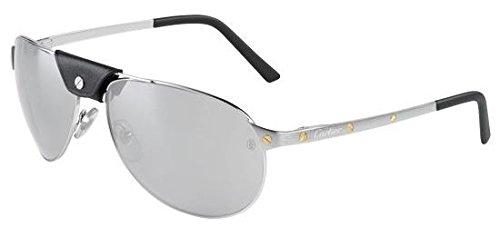 Preisvergleich Produktbild Cartier Herren Sonnenbrille Silber silber / schwarz