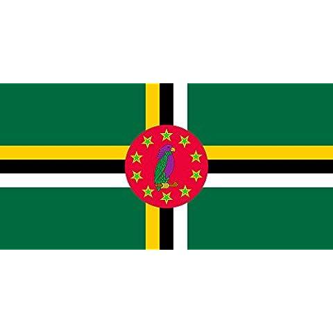 Dominica 1981-1988 | Dominica 1981-1988 Bandera 20x30cm para Diplomat-Flags Banderas de Coche