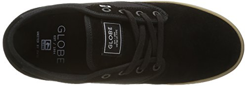 Globe Motley, Baskets Basses Homme Noir (Black/Black/Gum)