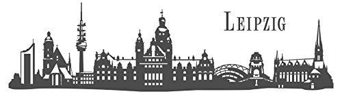 dekodino Wandtattoo Skyline Leipzig