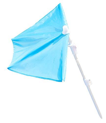 infactory Minisonnenschirm: Kleiner Fächer-Sonnenschirm für Strand und Garten (Kleiner Sonnenschirm für unterwegs)