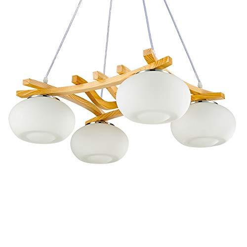 AmzGxp Eiche + Metall 4 Lichtquelle Platz Moderne Minimalistische Kreative LED Schlafzimmer Wohnzimmer Esszimmer Arbeitszimmer Kronleuchter/Deckenleuchte/Lampe kreativ -