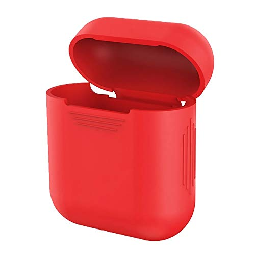VEVICE custodia in silicone per Airpods ricarica box, iPhone x accessori box a prova di shock casi protettiva cover cuffia auricolare Bluetooth (rosso)