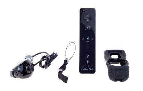 Negro Nintendo Wii mando Motion Plus paquete Nunchuk