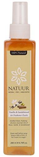 NATUUR Air Freshener - Vanilla and Sandalwood - 200 ml (Brown)