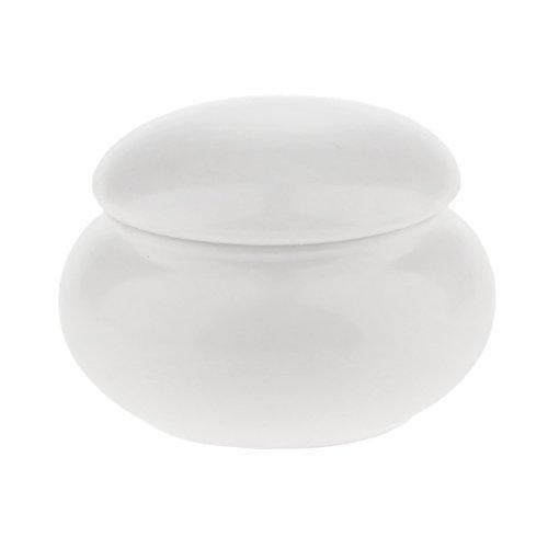 Baoblaze 12ml Waterproof Pot Céramique Boîtier Exquis à Rangement Poudre Fard à Paupières, Blush, Crème Cosmétique - Compact et Durable - Blanc
