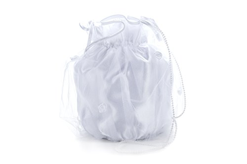Frühlings-SALE! Brauttasche Abendtasche festliche Tasche Weiß/Weiße-Perlen