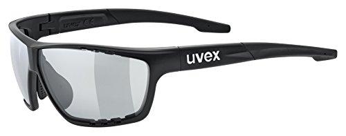 Uvex Unisex Erwachsene Sportstyle 706 vario Sportbrille, Black Mat, One Size