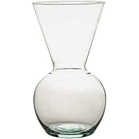 Ravenhead Naturals Mid Waisted Vaso Decorativo in Vetro 28cm, trasparente