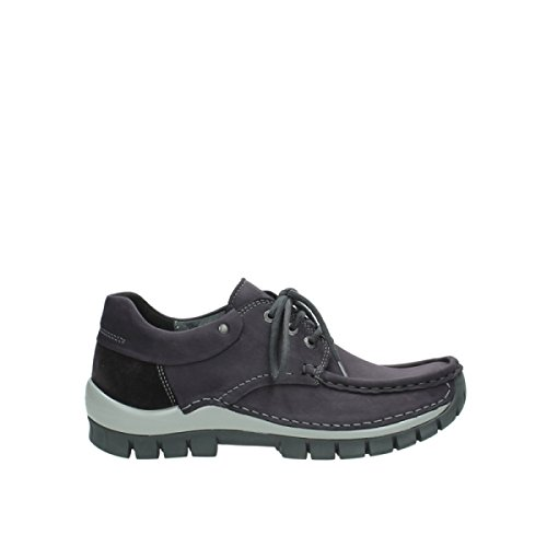 Wolky Schnürschuhe 4726 Fly hiver 560 purple-grey oiled nubuck