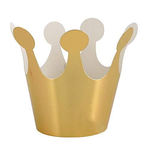 chsene Geburtstags Krone Boy Girl Kinder Kindergeburtstag Party Dekoration Papier (Gold) ()