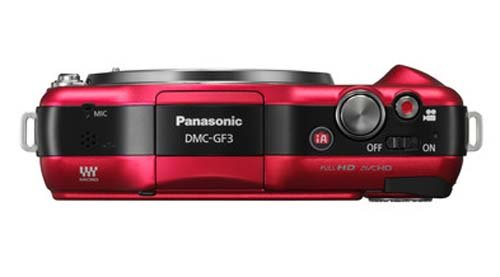 For Sale Panasonic Lumix DMC-GF3 12.1MP Compact System Camera Kit with 14mm Lumix G f/2.5 ASPH Lens – Red on Amazon