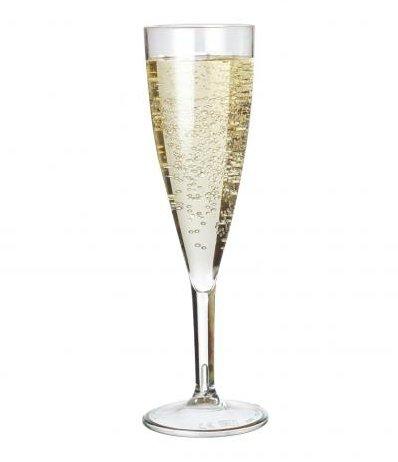 6x PREMIUM Champagner Flöte Polycarbonat sieht aus wie echtes Glas, aber unzerbrechlichem Kunststoff. Ideal für Picknicks Outdoor Pool, BBQ, Garden. waschbar und wiederverwendbar. Spülmaschinenfest