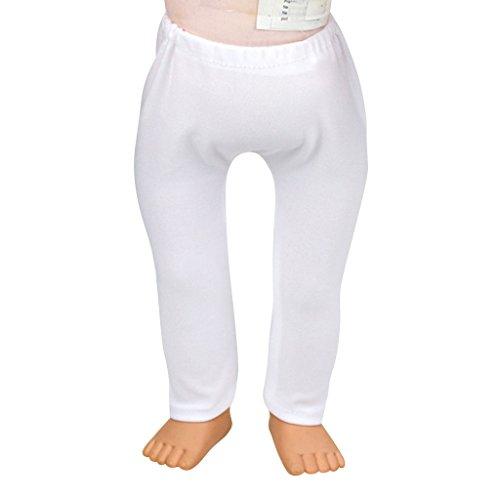 Sharplace Puppenhosen Leggings / Leggins / Legins Für 18 Zoll American Girl Puppe Bekleidung Zubehör - Weiß