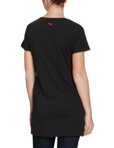 Puma T-shirt PUMAscript Maxi I en coton biologique pour femme noir