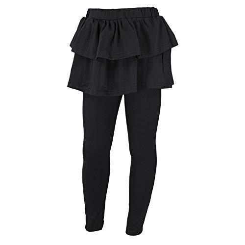 TupTam Mädchen Leggings mit Rock, Farbe: Schwarz, Größe: 128