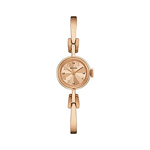 Bulova Heritage 97L156 - Damen Designer-Armbanduhr - modisches Gliederarmband - Elegantes Design - Roségoldfarben
