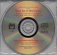 Alfred's Adult All-in-One Piano Course - Level 1 (CD)