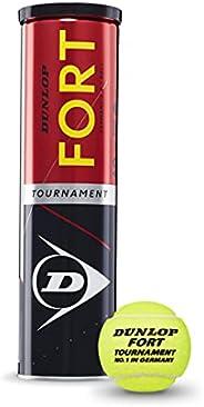 Dunlop Tennisbollar, Fort Tournament, Gul, Standard Storlek