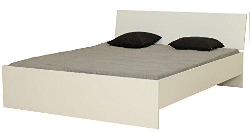 Dynamic24 Doppelbett 160x200 cm Ehebett Holz Bett Bettgestell Bettrahmen Jugendbett weiß