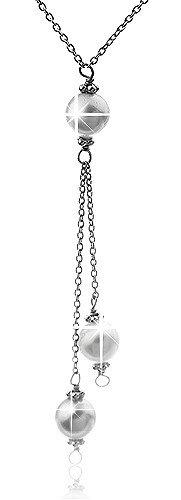 Schmuck-Kette-Halskette-Damenkette-Perlenanhnger-925-Sterling-Silber-rhodiniert-SSI-022