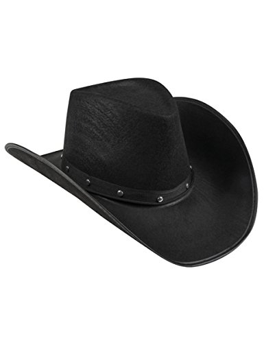 Hut Erwachsene Cowboy Schwarz (Cowboy-Hut in schwarz für)