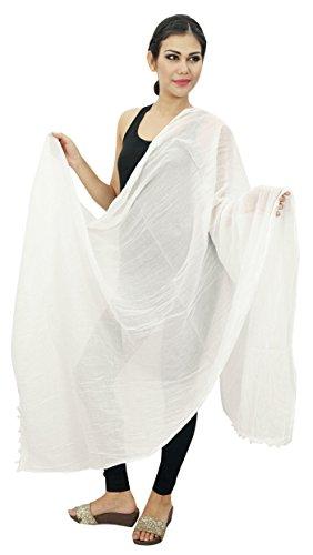 Lange Stola Baumwolle Dupatta Ansatz-Verpackungs-Frauen Indischen Schal Chunni Wear Mischung - Baumwolle Indian Werfen