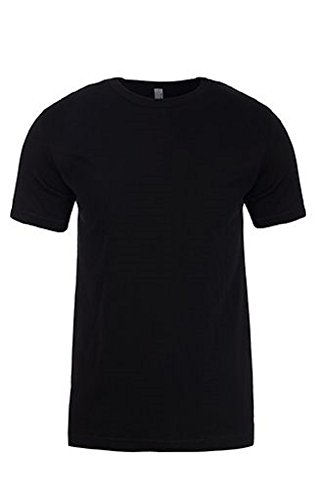 Next Level Mens Premium Fitted Short-Sleeve Crew (3600) -Black -L (Fitted Baby T-shirt Rib)
