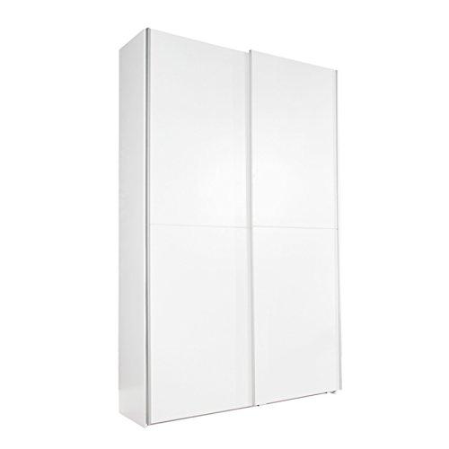 Design Garderobenschrank GEORGE XXL weiß 125cm breit Schuhschrank Wunder