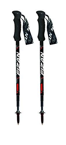 Fizan Compact 3 leichter 3-teiliger Trekkingstock 158 gr schwarz Paar 2017 Neu